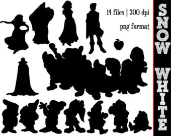 Silhouette    Disney Clipart    Snow White And Dwarfs Silhouettes