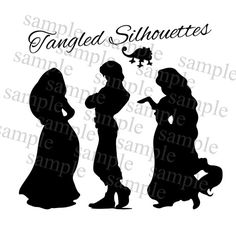 Tangled Rapunzel Silhouette Tangled Rapunzel By Sprinklesofsugar   5
