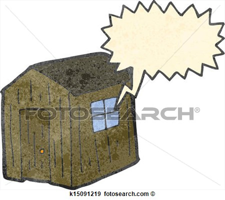 Clip Art   Retro Cartoon Wood Shed  Fotosearch   Search Clipart