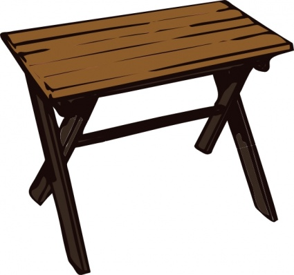 Collapsible Wooden Table Clip Art Vector Free Vector Graphics