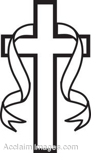 Christian Cross Black And White Clipart - Clipart Kid