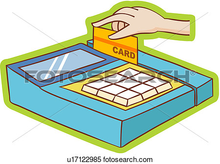 Hand Credit Card Machine Body Settlement Payment Shopping View