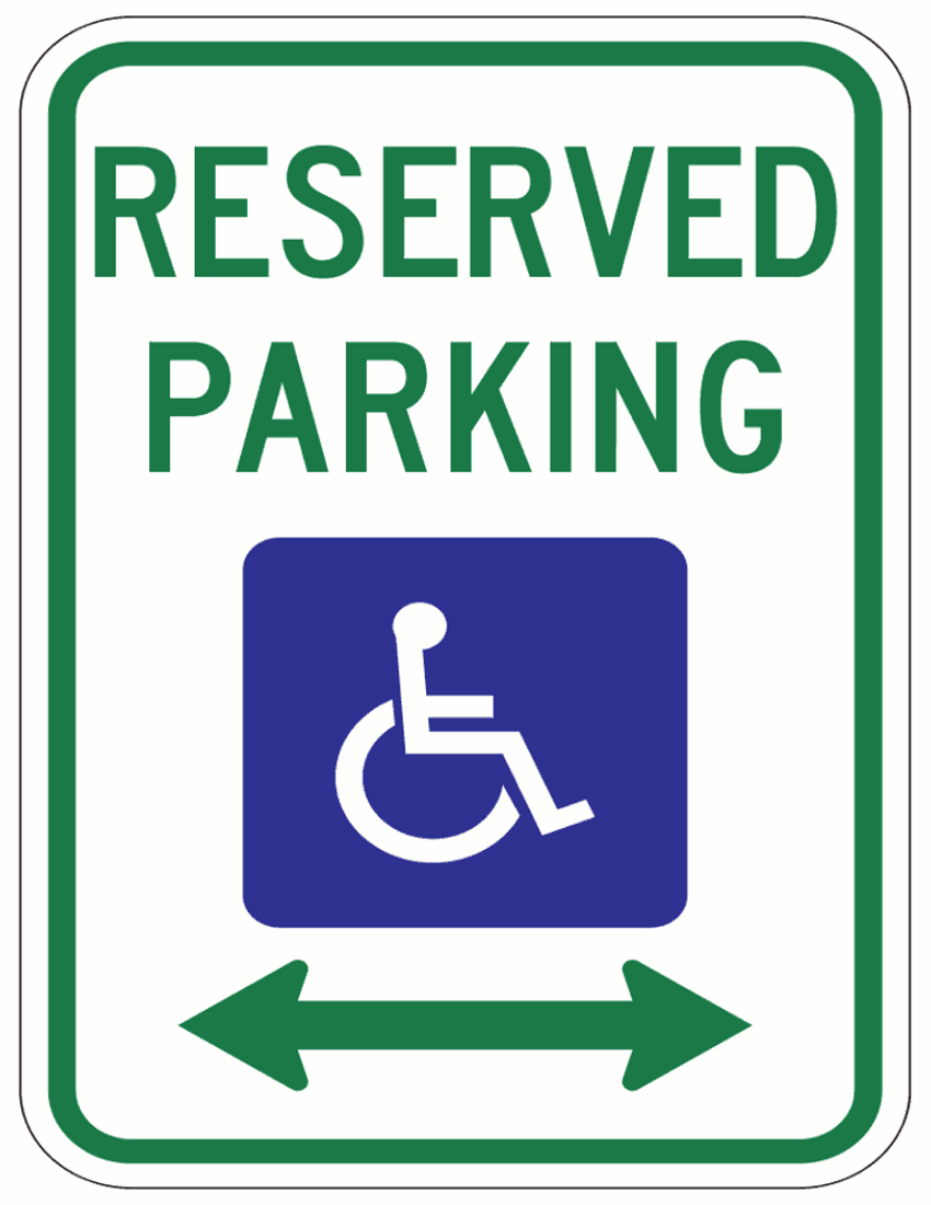 Handicapped Parking Page    Page Frames Full Page Signs Traffic Signs