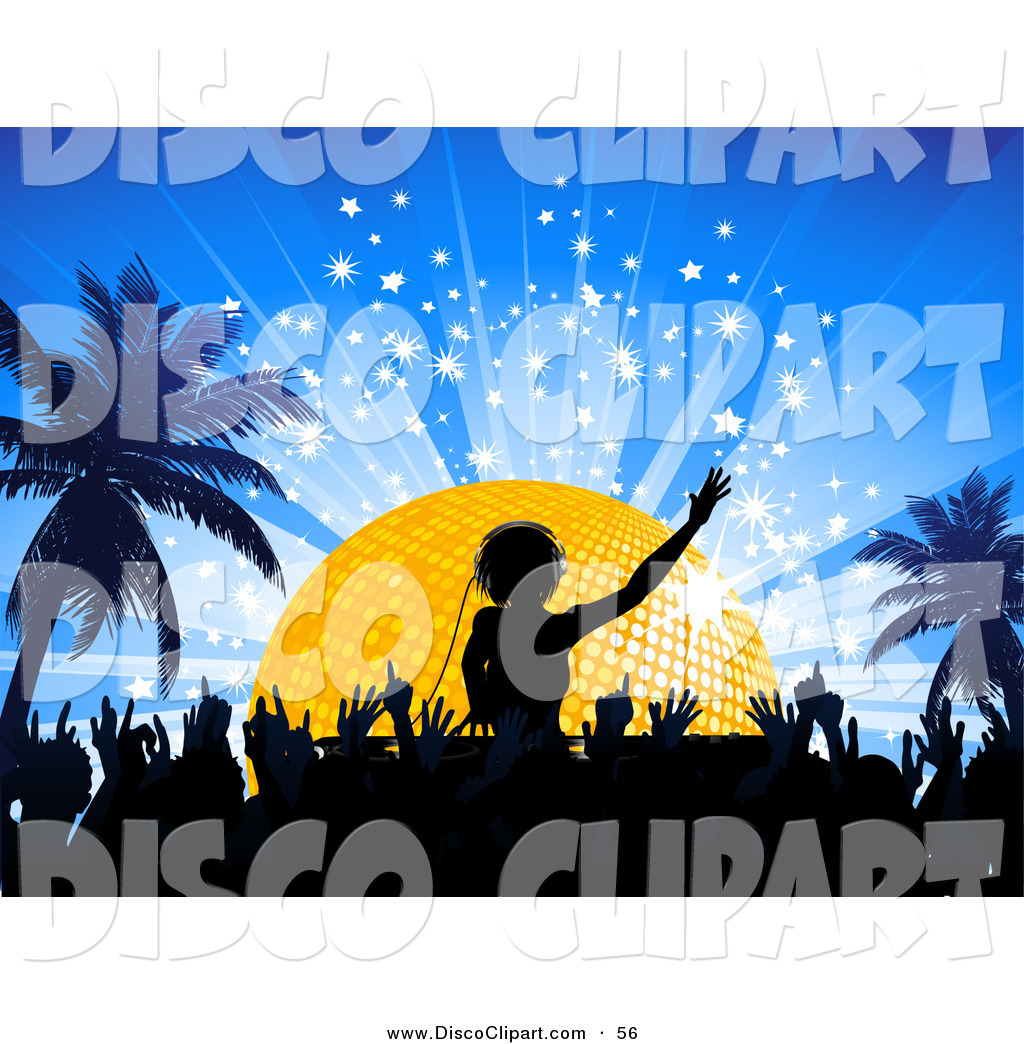Larger Preview  Vector Music Clip Art Of A Black Silhouetted Crowd On