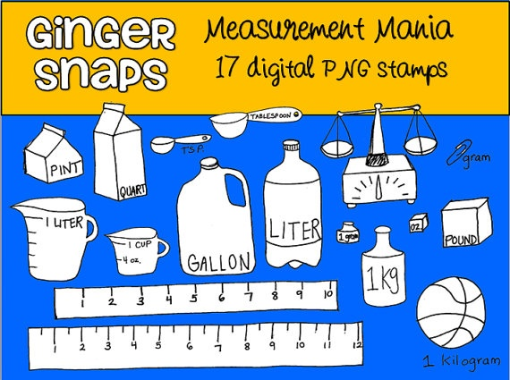 Measurement Mania Clipart   Digi Products By Other Sellers   Pinterest