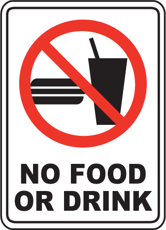drink sign clipart allowed drinks signs eating library clip cliparts area computer need please water unplugged