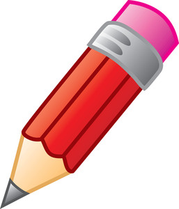 Pencil Clip Art A Red Pencil With A Pink Eraser 0071 1002 1700 4013
