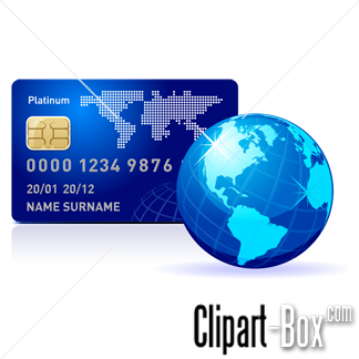 Related Credit Card With Globe Cliparts