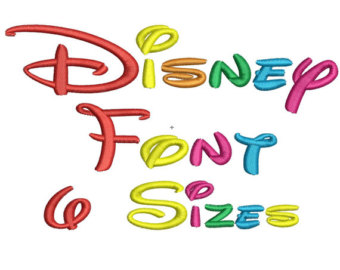 And 6 Inch All Formats Di Sney Font Embroidery File