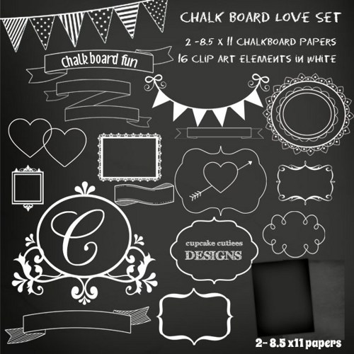 Chalkboard Banner Clipart - Clipart Kid