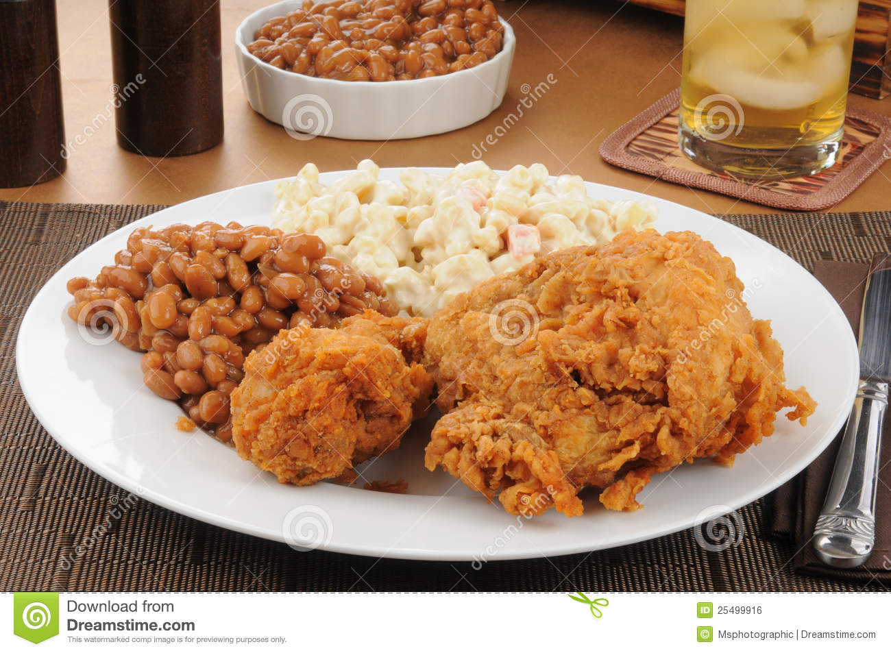 Chicken And Boston Baked Beans Royalty Free Stock Image   Image