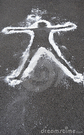 Dead Body Chalk Outline Stock Image   Image  15548451