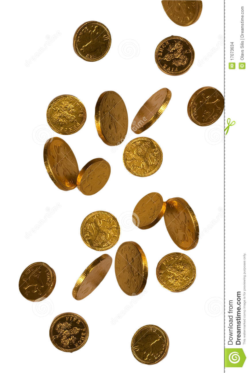 falling gold coins clip art falling gold chocolate coins