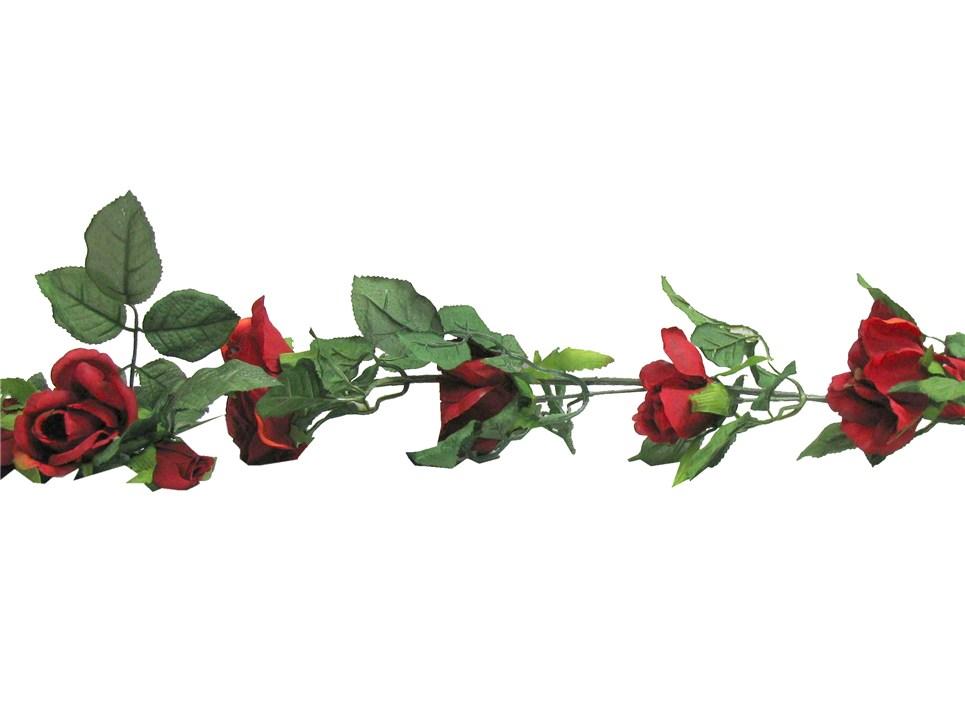 christmas rose garland