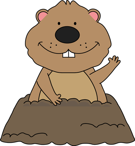 Groundhog Clip Art   Cute Groundhog Coming Out Of Its Hole And Waving