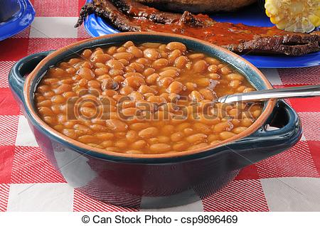 Of Boston Baked Beans   Closeup Of A Bowl Of Boston Baked Beans