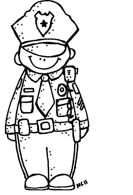 Officer Badge Clipart Men Clipart Black And White Policeman Clipart
