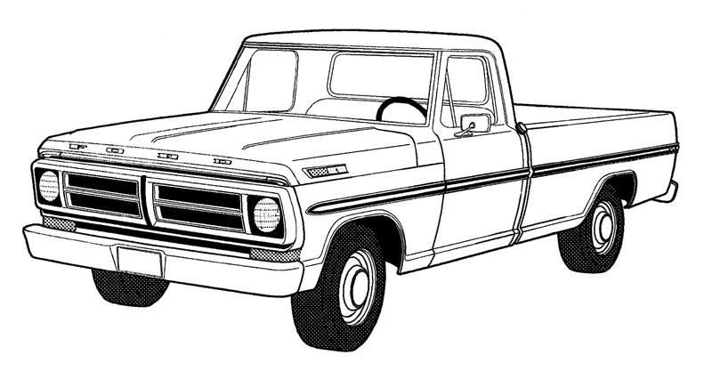 Old Ford Truck Clipart Truck Outline   Clipart Best