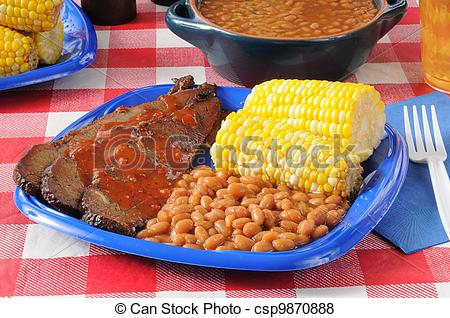 Pictures Of Beef Brisket With Boston Baked Beans   A Picnic Lunch Of