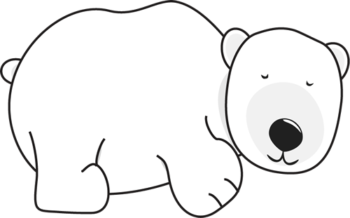 Cartoon Mother And Baby Polar Bear Sleeping - freepik.com