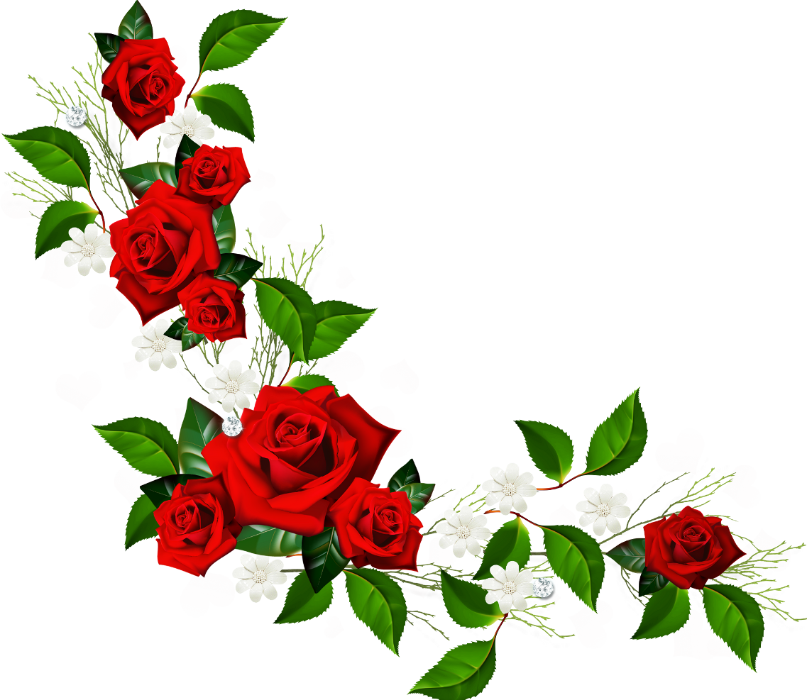 Red Flower Borders Clipart - Clipart Kid Flower Vine Clipart