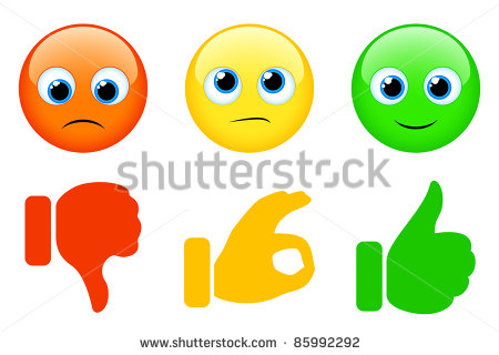 Smiles And Thumbs Up And Down Stock Vector Illustration 85992292