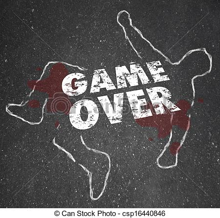 Stock Illustration   Game Over Body Chalk Outline Dead Person   Stock