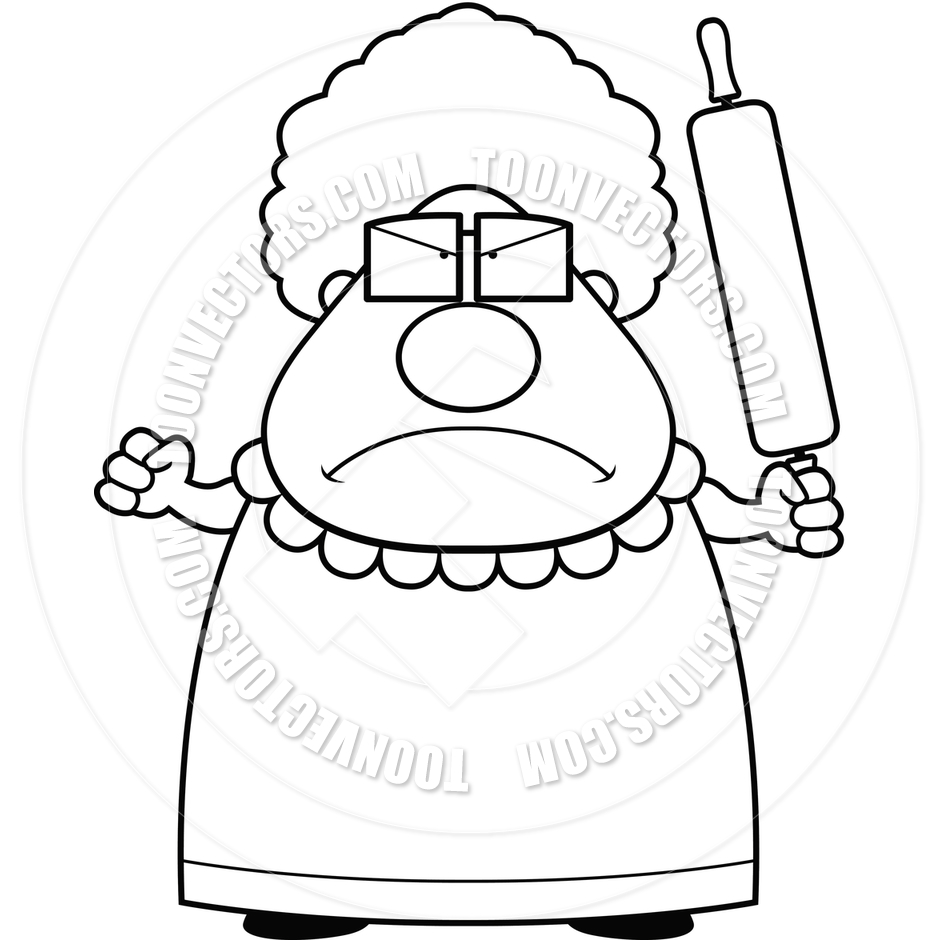 grandma coloring page - grandma black and white clipart clipart suggest
