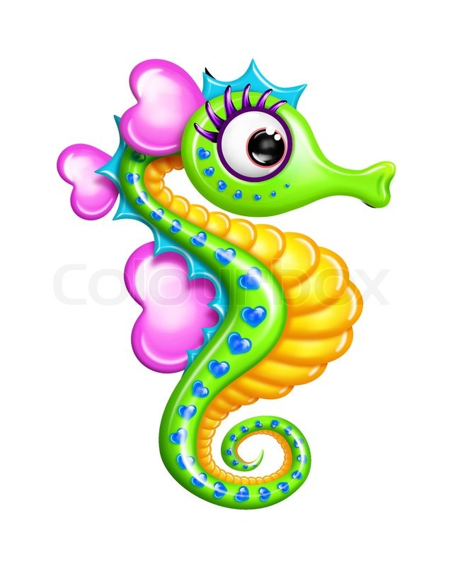 Baby Seahorse Printable Clipart   Cliparthut   Free Clipart