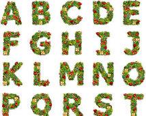 Christmas Alphabet Clipart - Clipart Kid