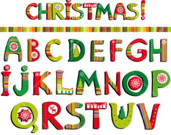 Christmas Alphabet Letters Clipart - Clipart Kid