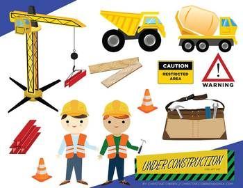 Construction Theme Clipart - Clipart Kid