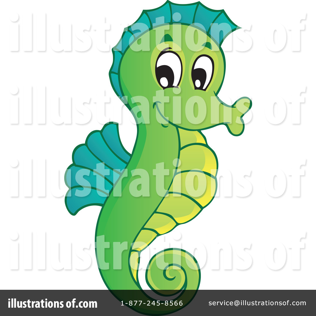 Seahorse Clipart  1096949   Illustration By Visekart