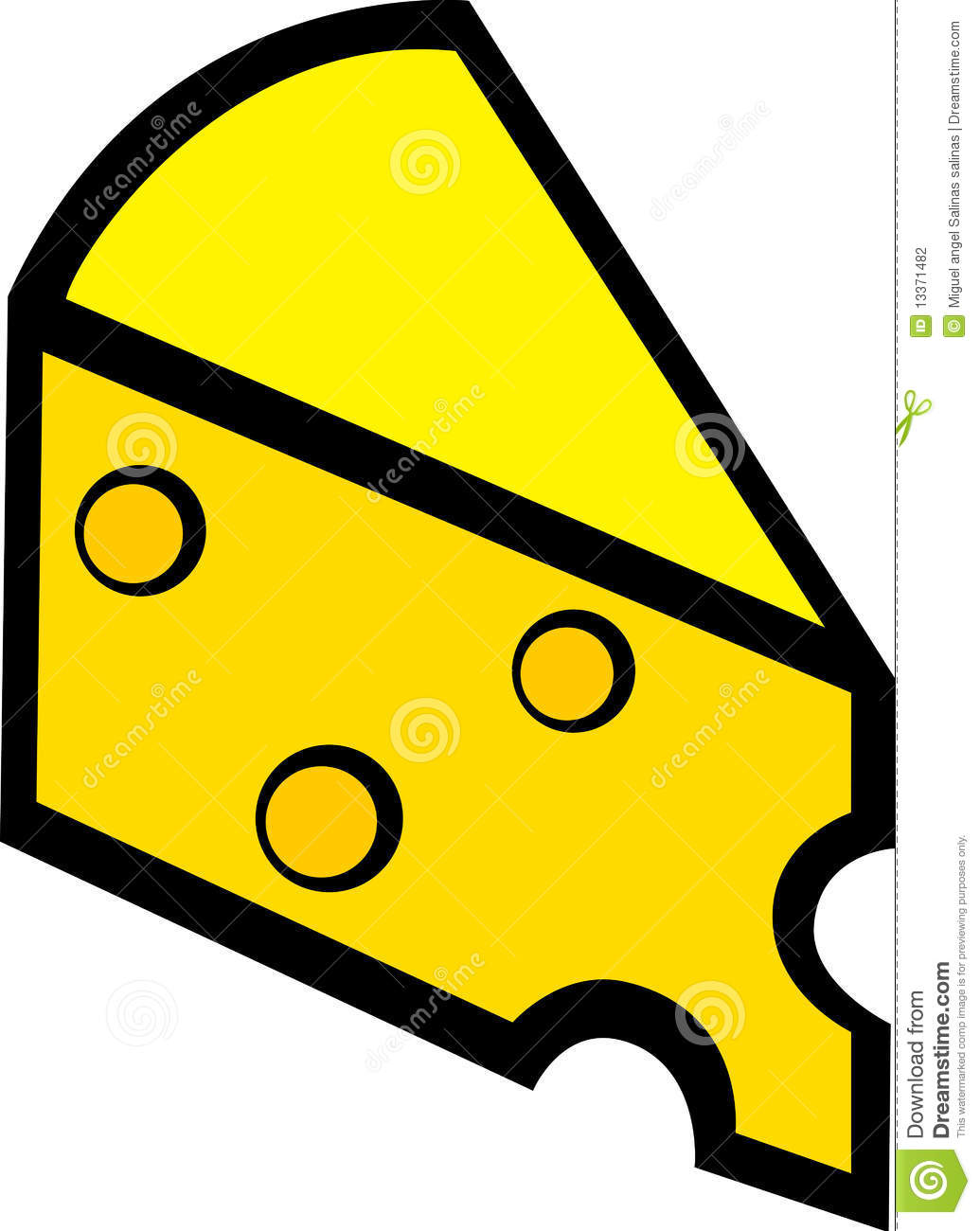 Swiss Cheese Slice Clipart