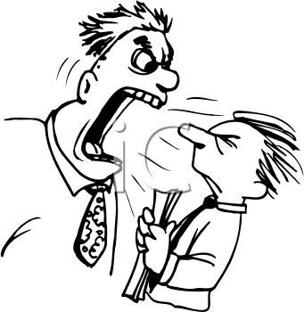 Teacher Yelling At A Student Clipart Image
