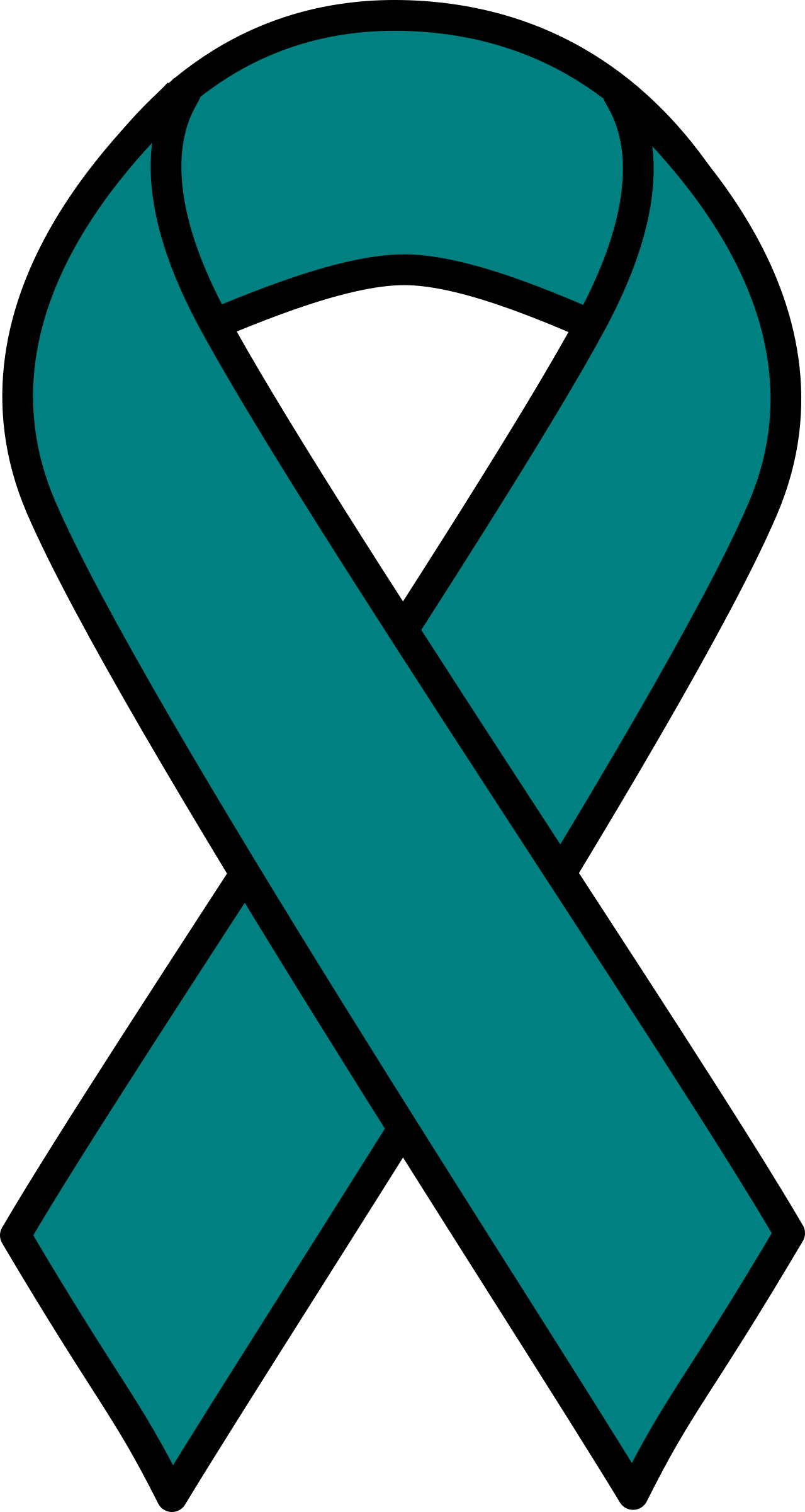 Teal Ribbon Clipart - Clipart Suggest