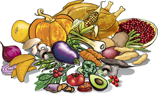 Thanksgiving Food Clip Art For November Pictures   Download Free