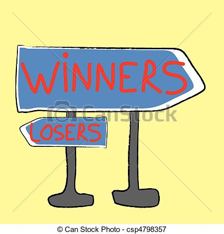 Winners And Losers    Csp4798357   Search Clipart Illustration