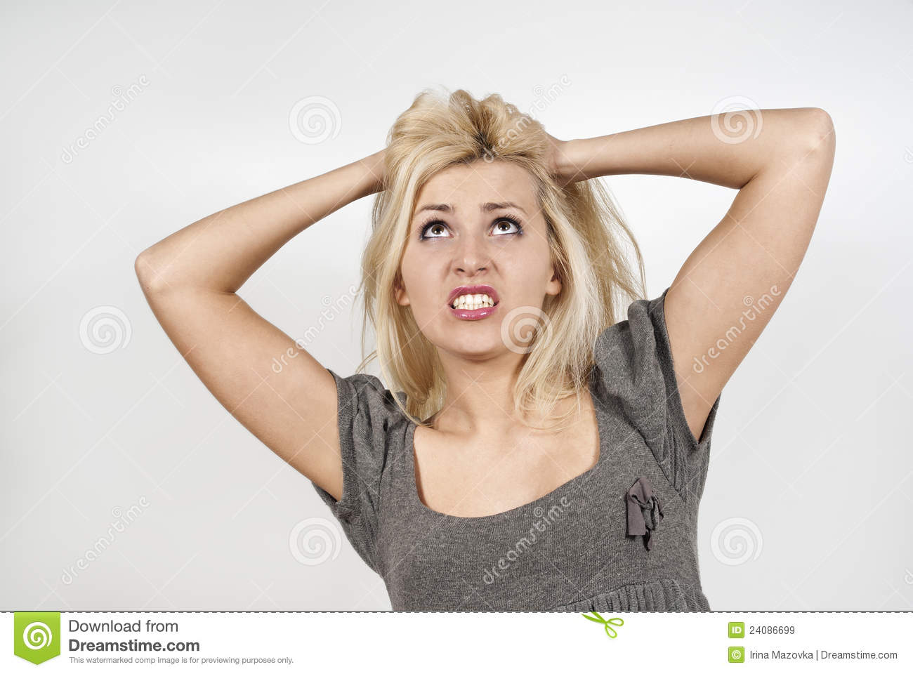 Beautiful Girl Is Very Upset Royalty Free Stock Images   Image