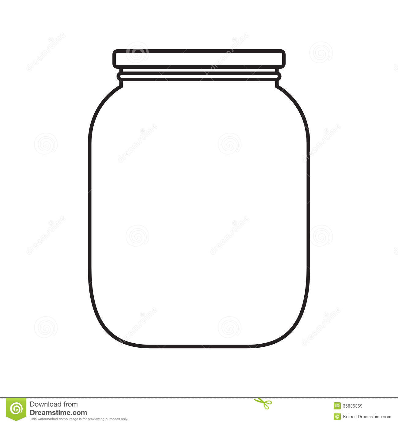 Blank Jar With Cap Royalty Free Stock Images   Image  35835369