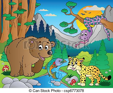 Forest scene clipart clipart suggest for Forest scene drawing