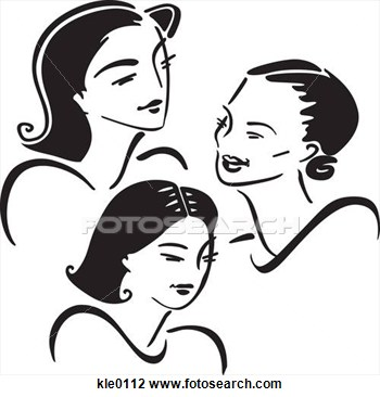 Clip Art   Three Generations Of Women  Fotosearch   Search Clipart