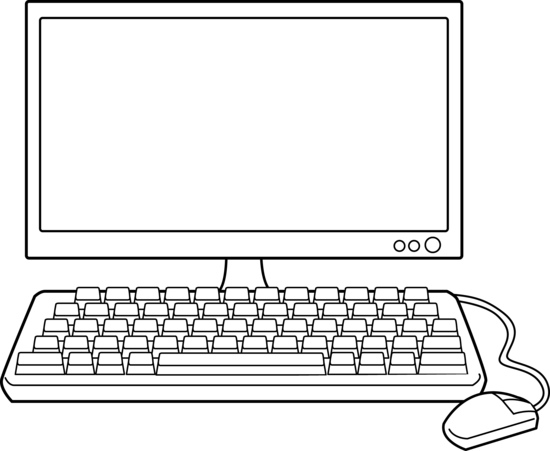 Line Art Laptop : Computer clipart images image gallery s lksb kid
