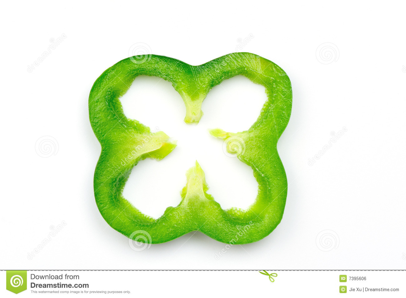 Green pepper slice clip art