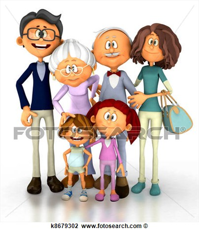 Family  Fotosearch   Search Clipart Illustration Posters Drawings