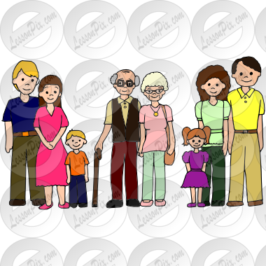 Family Picture For Classroom   Therapy Use   Great Family Clipart