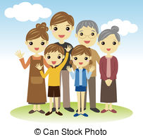 Family Three Child Illustrations And Clipart  1099 Family Three Child