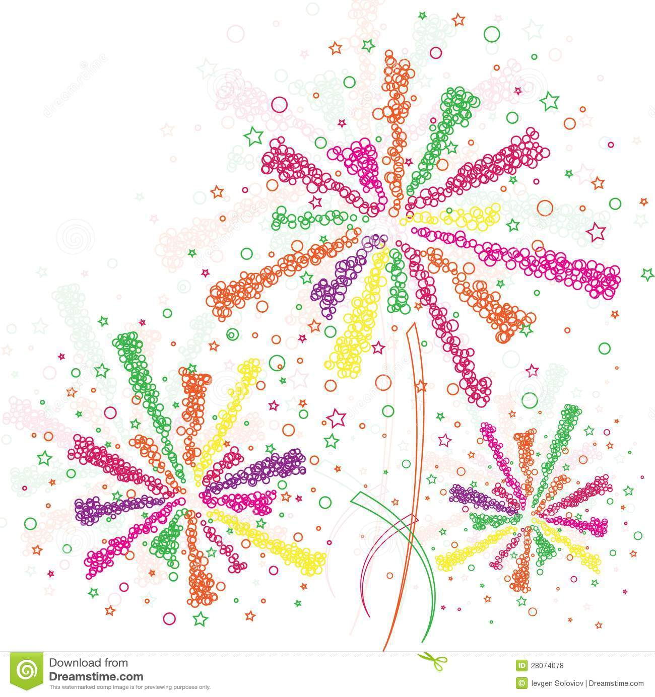 Firework Outline Royalty Free Stock Photos   Image  28074078