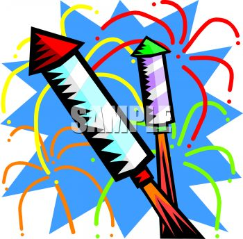 Fireworks Clipart Black And White