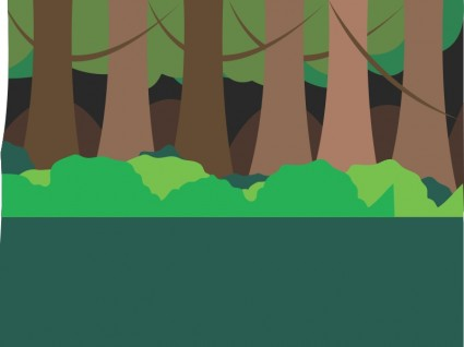 Forest Scene Free Vector In Open Office Drawing Svg    Svg   Format